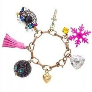 Juicy Couture Charm Bracelet Snowflake Owl Sword